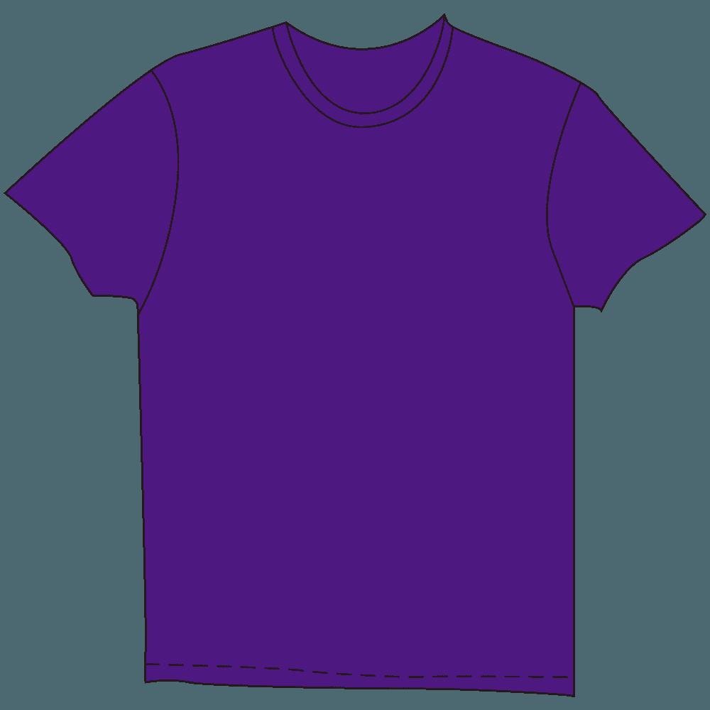メンズTシャツ濃色紫のイラスト