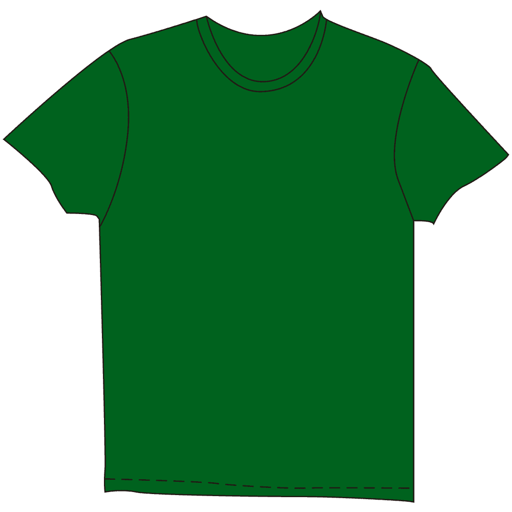 メンズTシャツ濃色グリーンのイラスト