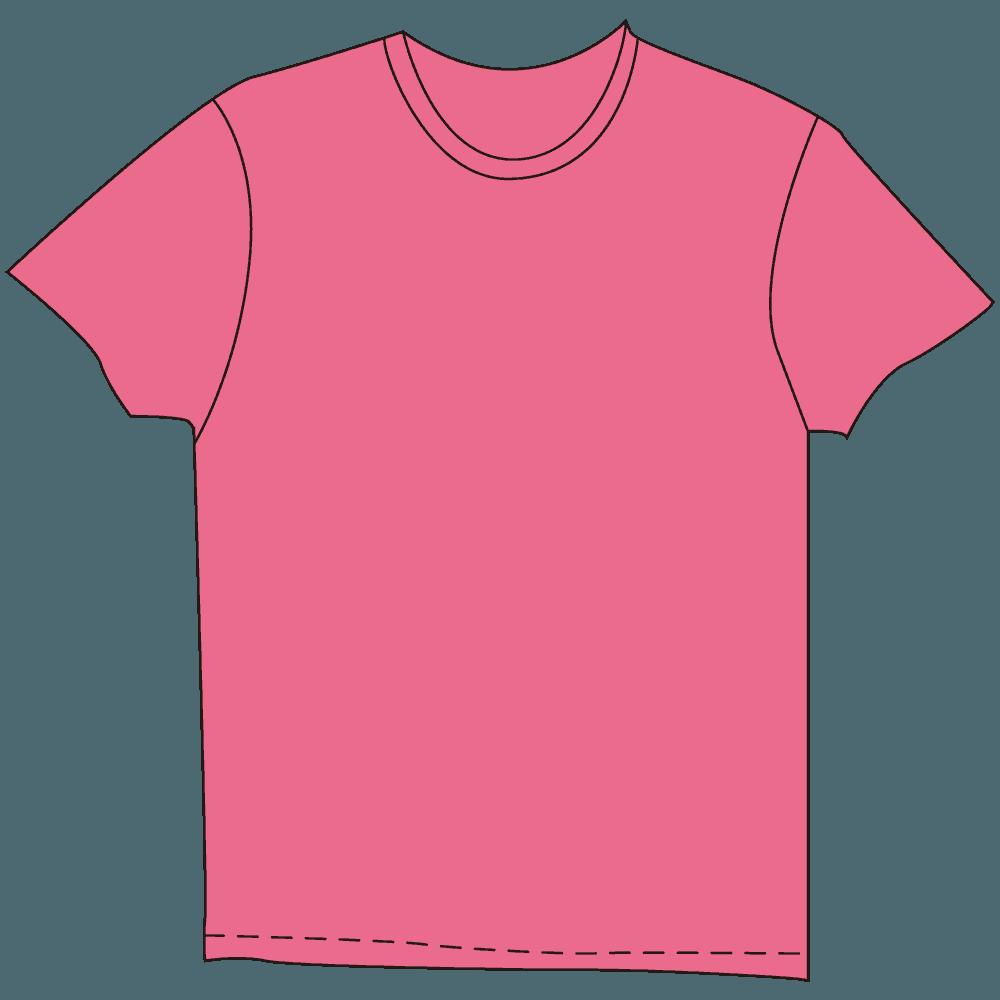 メンズTシャツ濃色ピンクイラスト