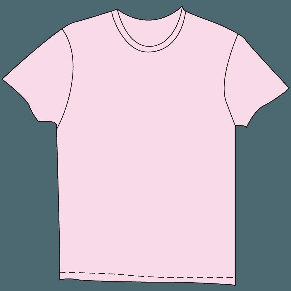 メンズTシャツ淡色ピンクのイラスト