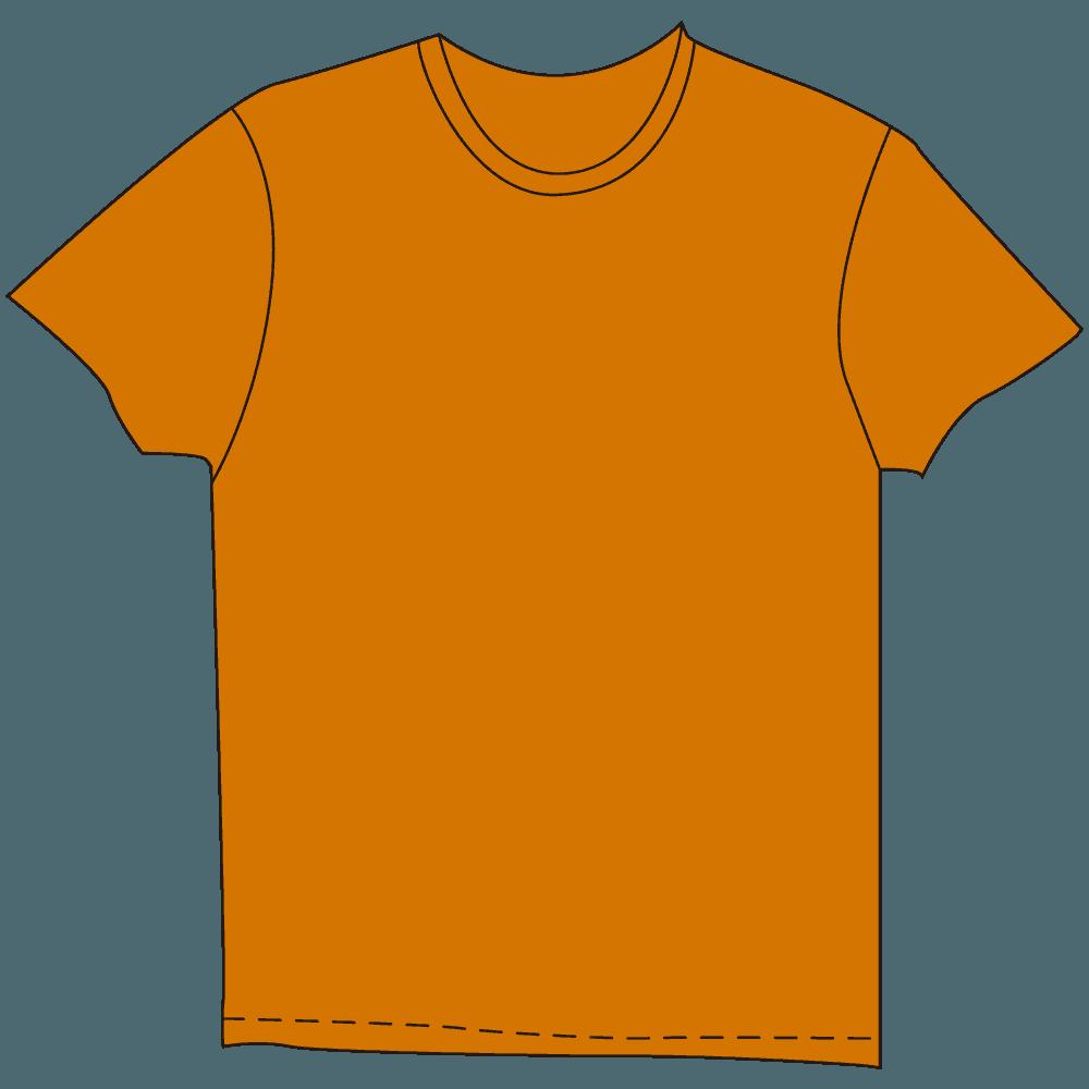 メンズTシャツオレンジイラスト