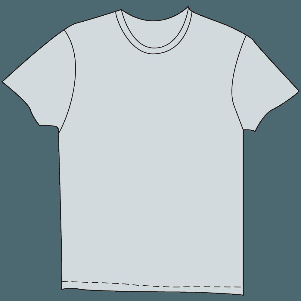 メンズTシャツ淡色水色のイラスト