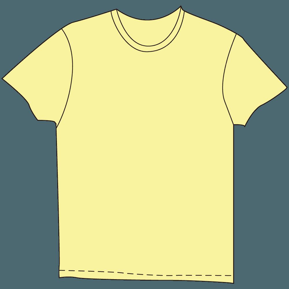 メンズTシャツ淡色イエローイラスト