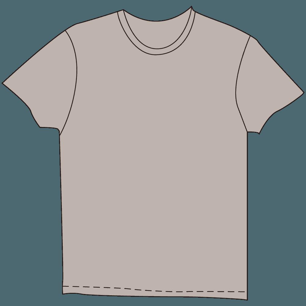 メンズTシャツ淡色グレーイラスト