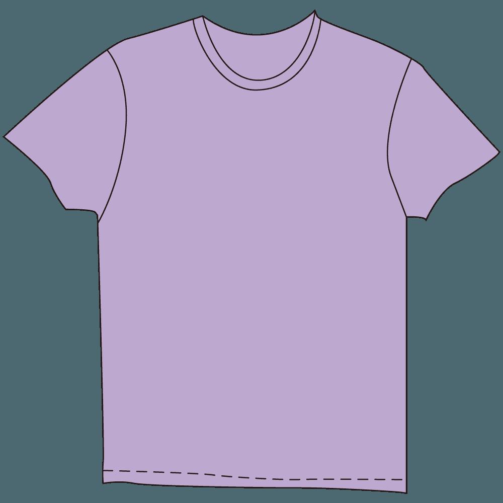 メンズTシャツ淡色紫イラスト