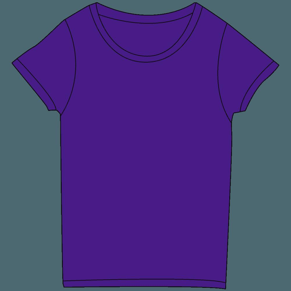 レディース濃色紫Tシャツイラスト