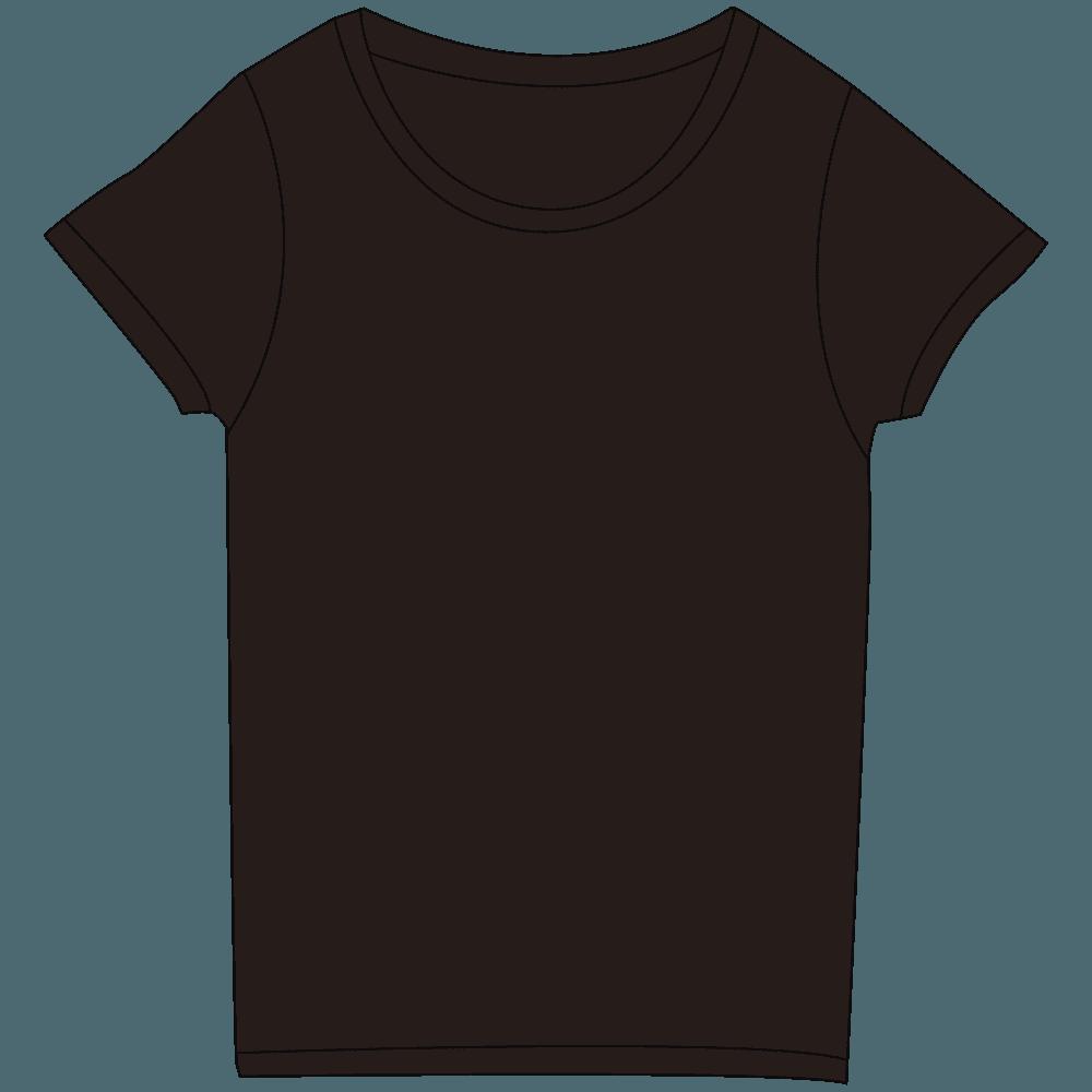 レディースブラックTシャツイラスト