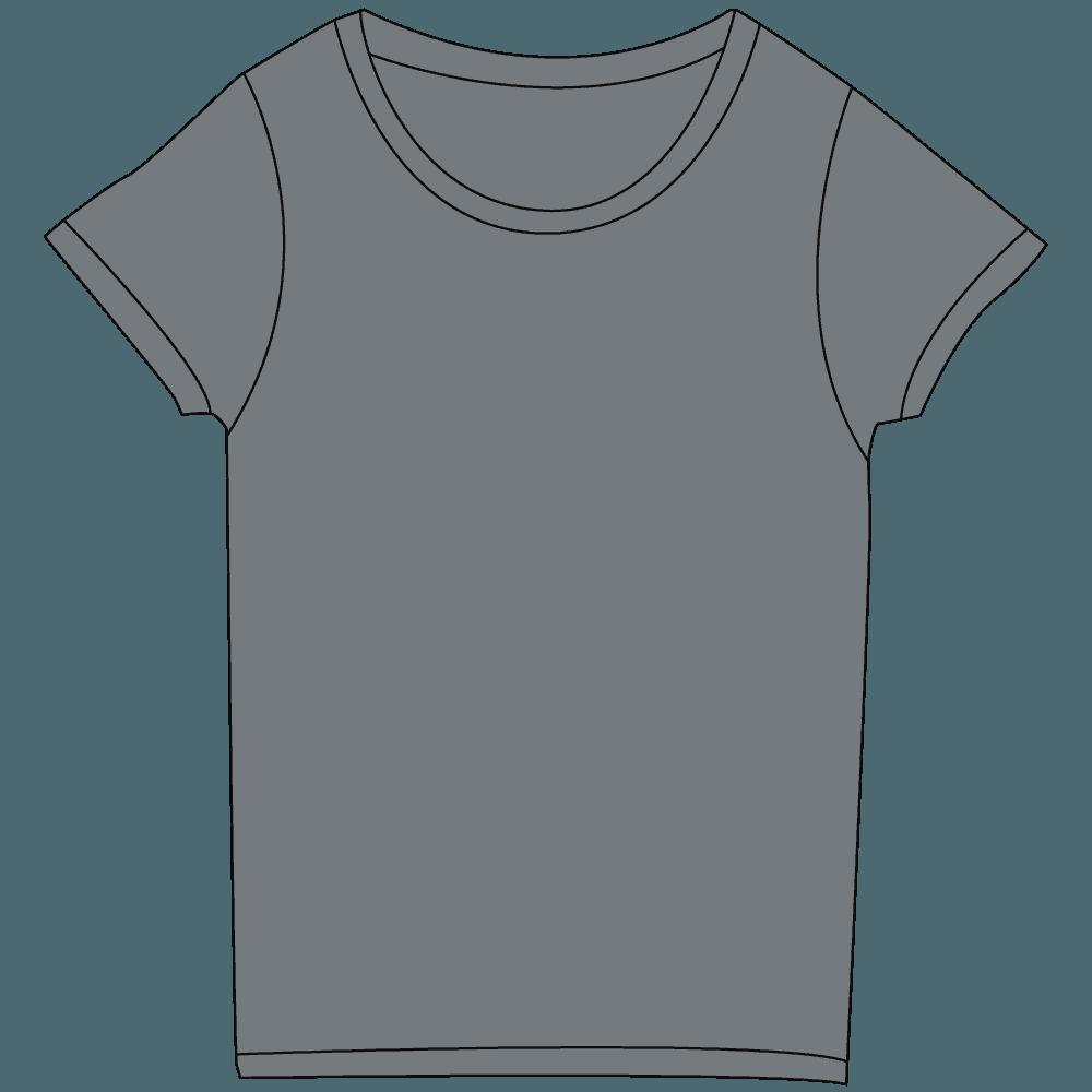 レディースグレーTシャツイラスト
