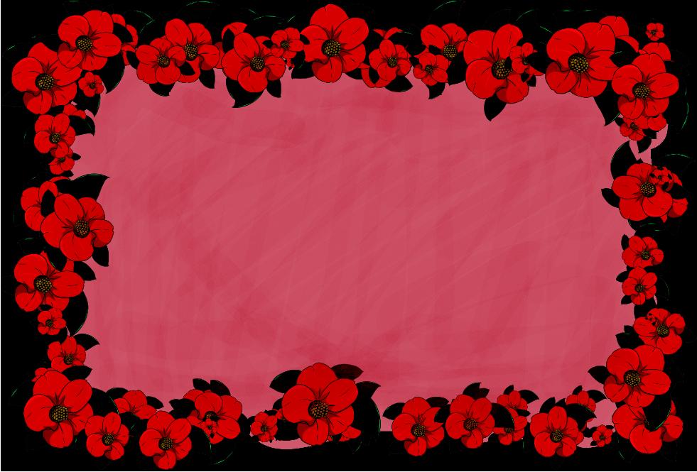 椿のフレーム(背景あり981×665)