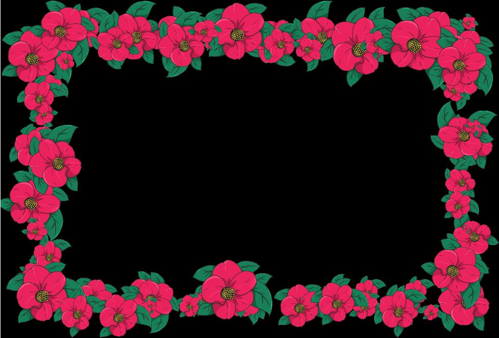 椿のフレーム(背景なし981×665)