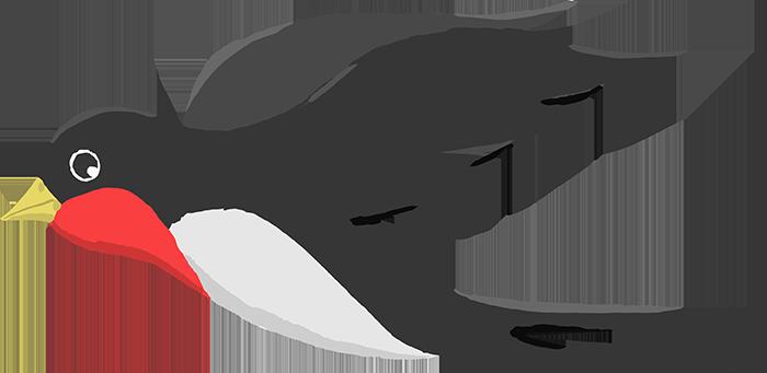 可愛いツバメのイラスト