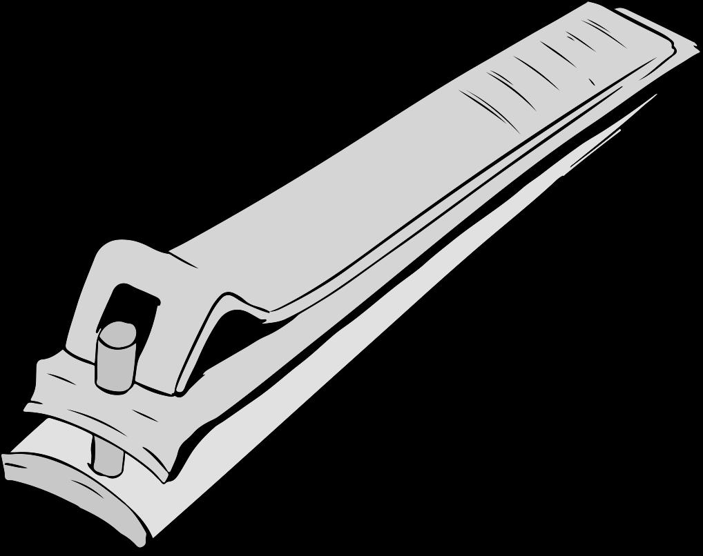 シルバーの爪切りのイラスト