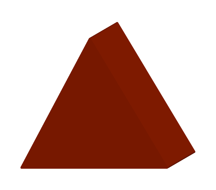 三角形の積み木