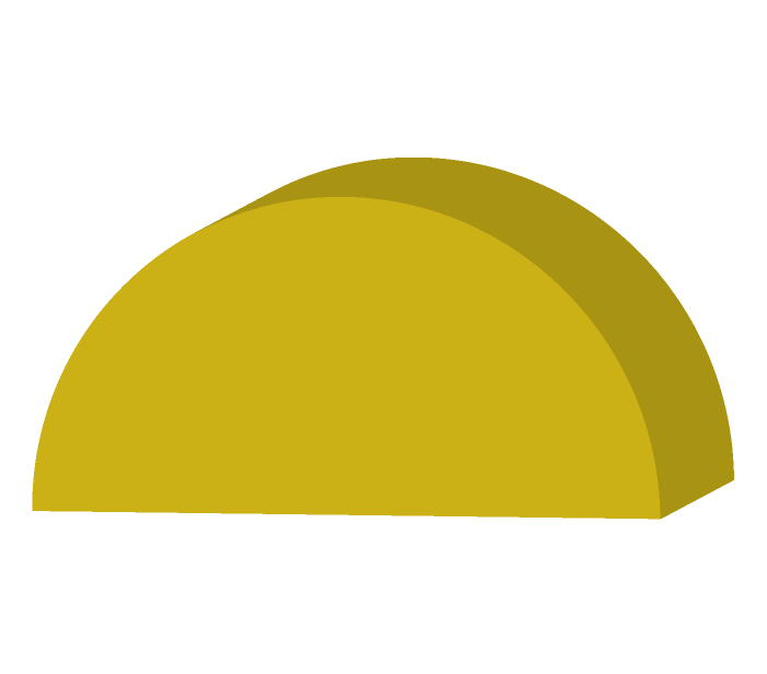 半円の積み木