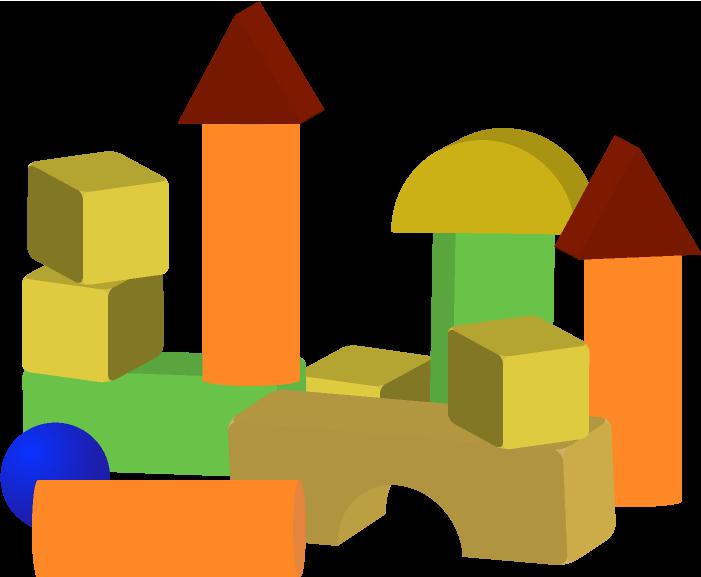 重ねた積み木のイラスト