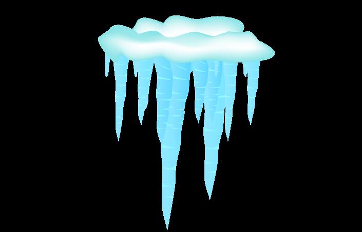 ツララと氷の塊のイラスト
