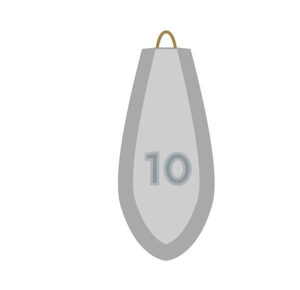 釣りオモリ10号