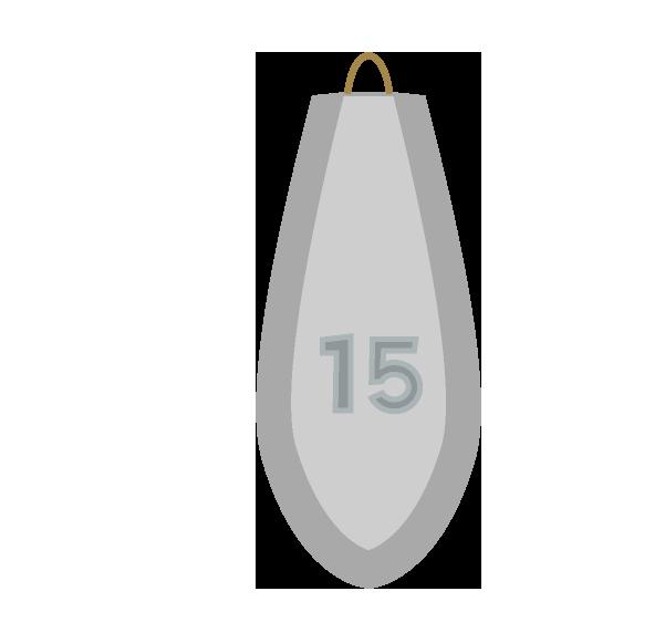 釣りオモリ15号