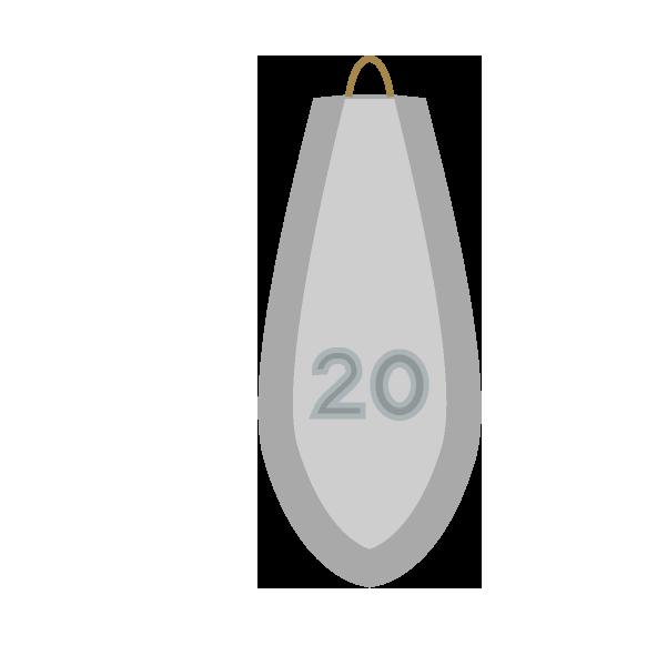 釣りオモリ20号