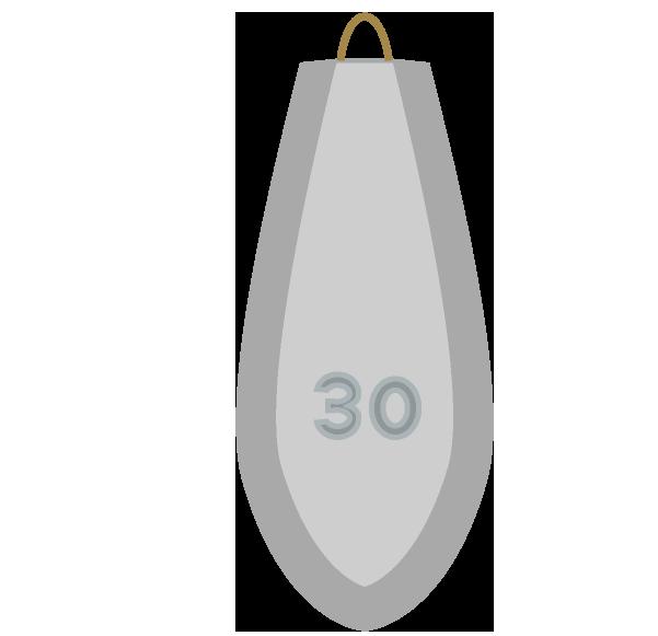 釣りオモリ30号