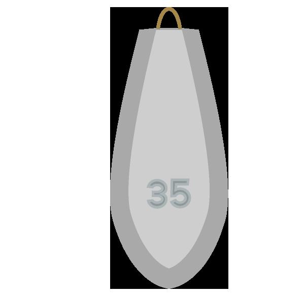 釣りオモリ35号