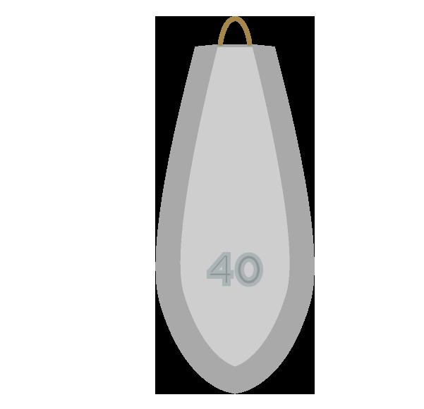釣りオモリ40号