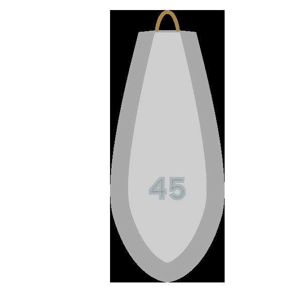 釣りオモリ45号