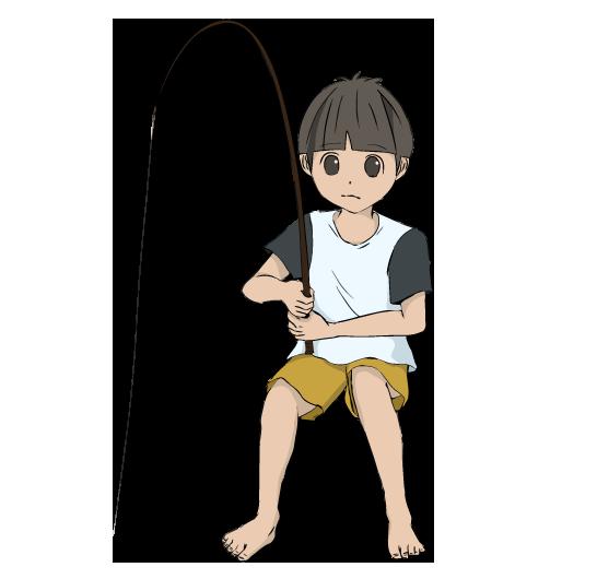 釣り人の四角フレーム(背景あり546×530)