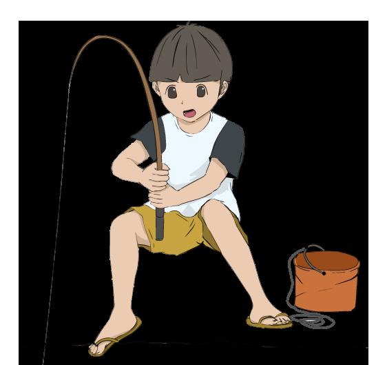 釣り人の四角フレーム(背景なし546×529)