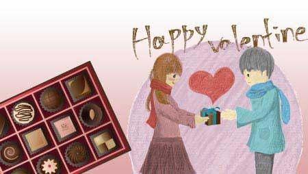可愛いチョコレートのイラスト - 美味なお菓子の無料素材