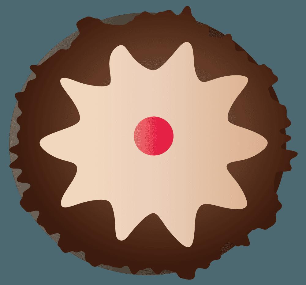 ラズベリーとホワイトソースチョコのイラスト