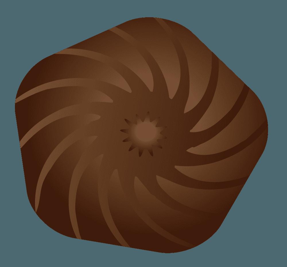 可愛い五角形チョコレートのイラスト