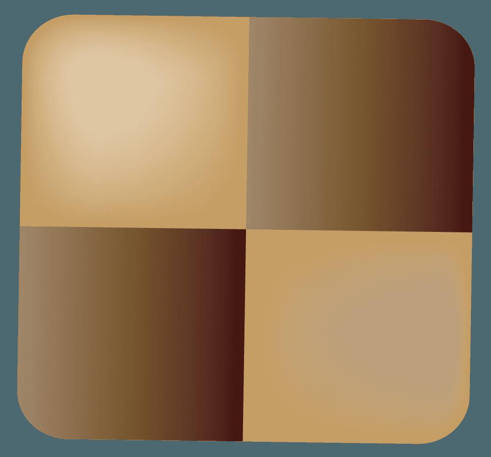 クッキー風のチョコレートのイラスト