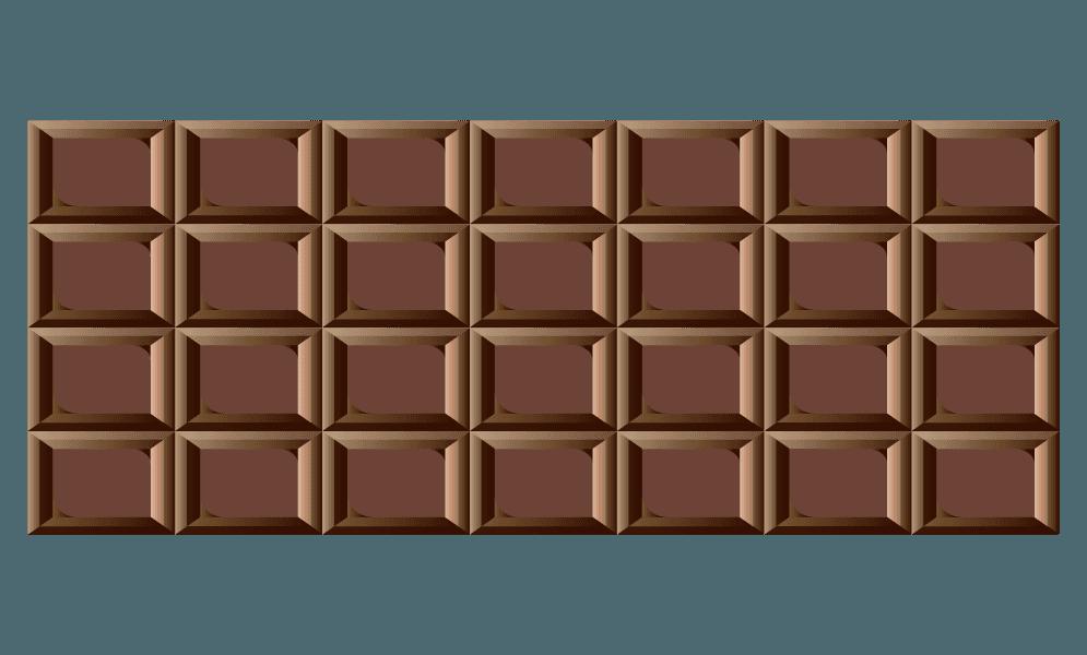 普通の板チョコのイラスト