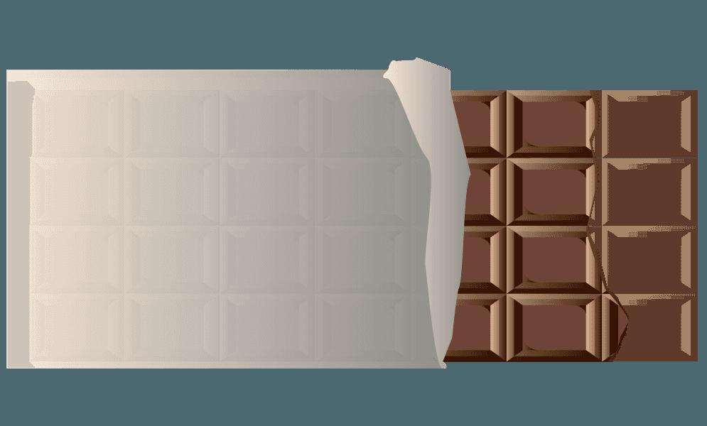 欠けた板チョコのイラスト