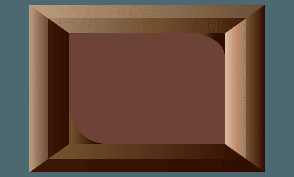 ひとかけらの板チョコのイラスト