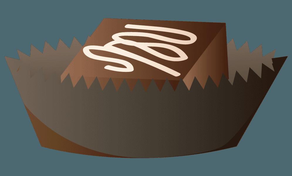 カップに入ったホワイトソースチョコのイラスト