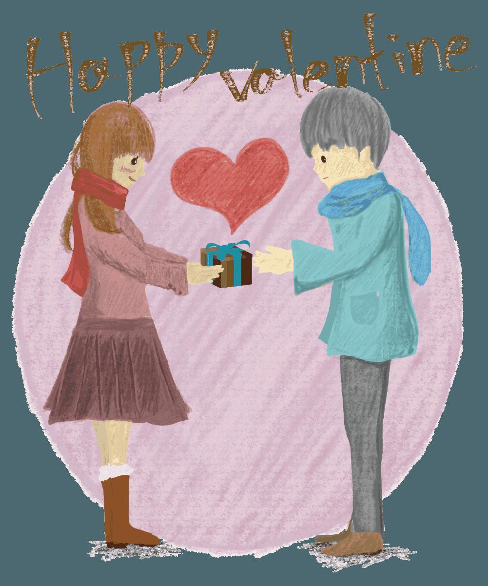 バレンタインのチョコレートイラスト