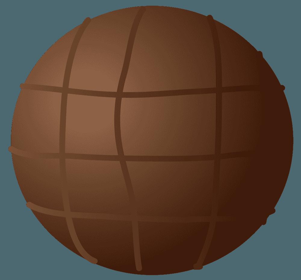 可愛いボール型のチョコレートのイラスト