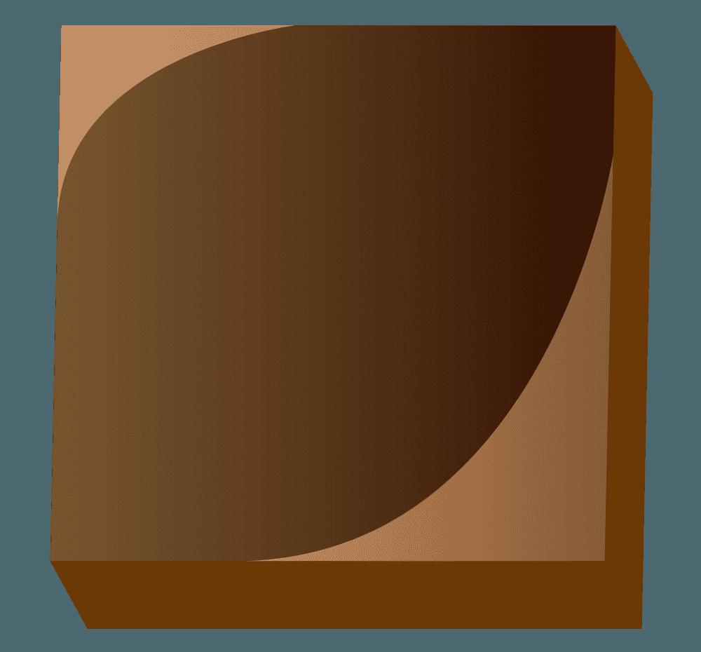 四角いミルクチョコレートのイラスト
