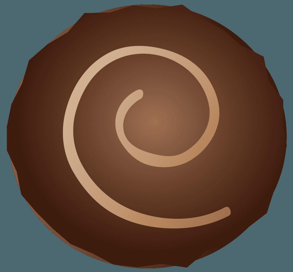 可愛い丸いチョコレートのイラスト
