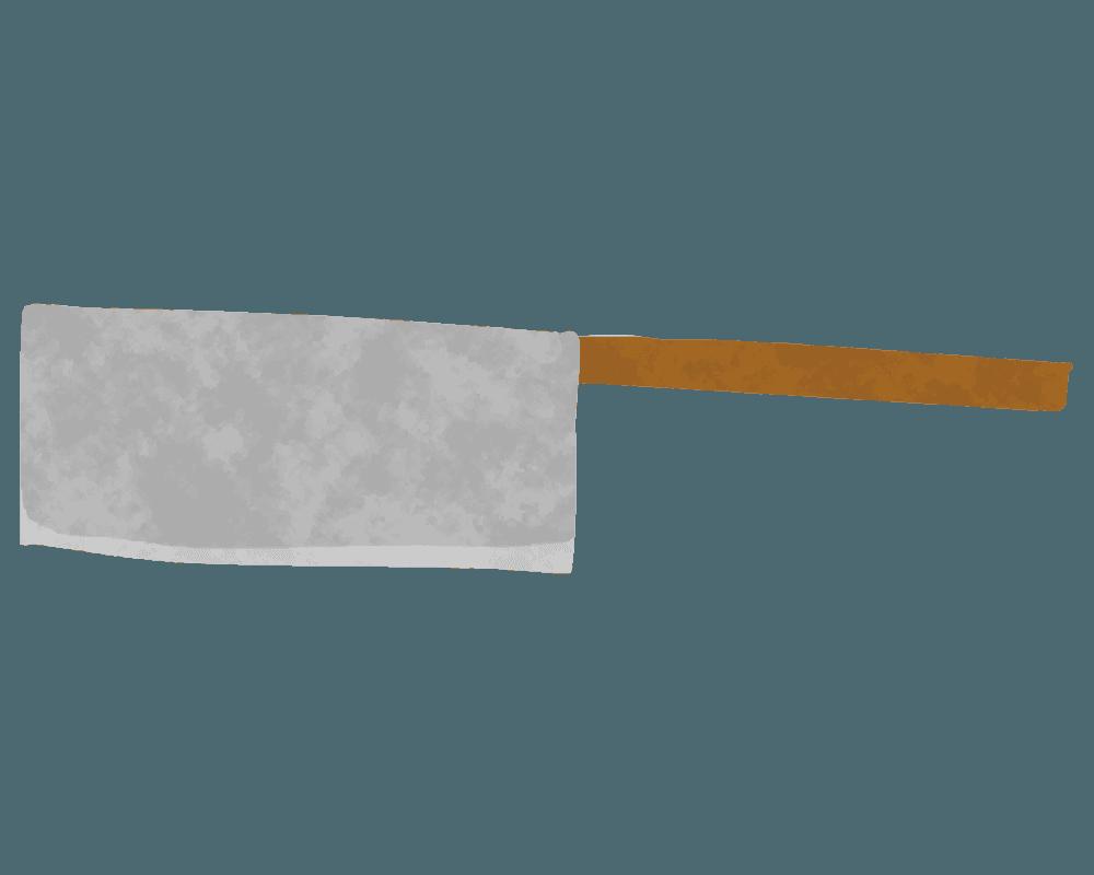 出刃包丁のイラスト