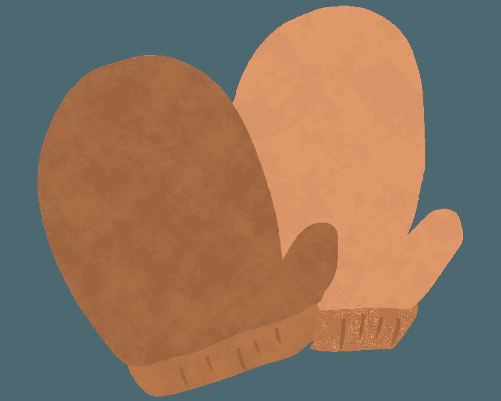 可愛い鍋つかみのイラスト