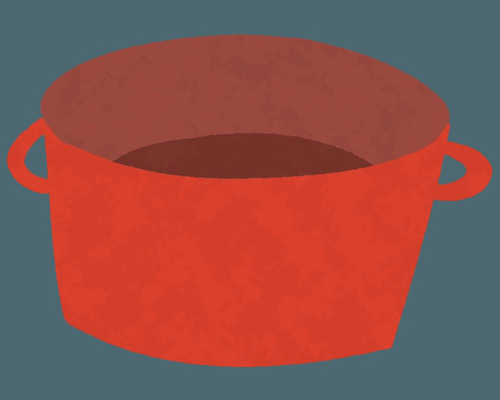 可愛いお鍋のイラスト