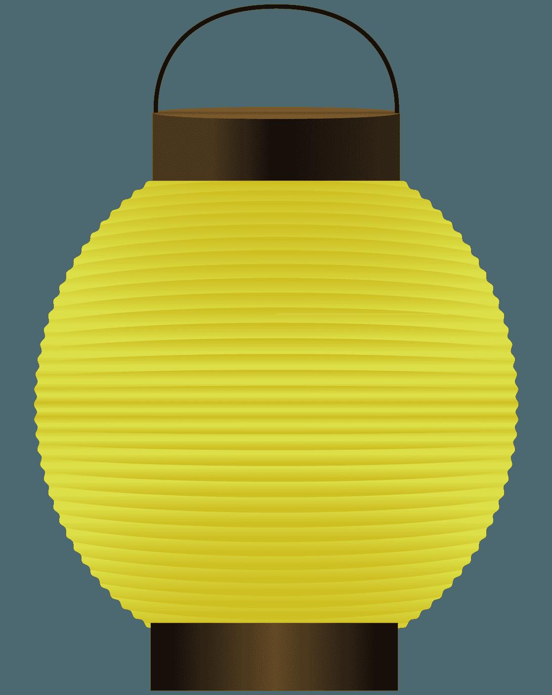 黄色いちょうちんイラスト