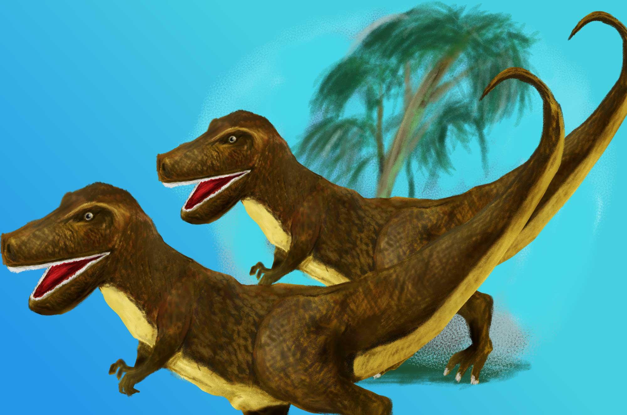ティラノサウルスのイラスト - かっこいい肉食恐竜