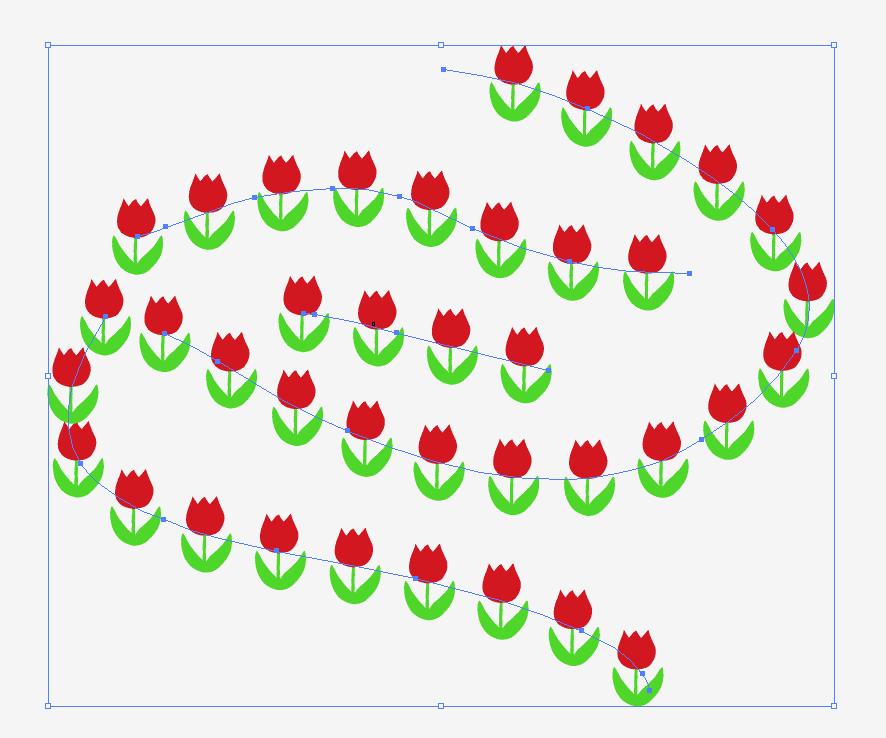 チューリップブラシで描いた線