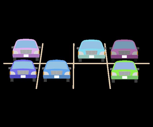 空きのある駐車場のイラスト
