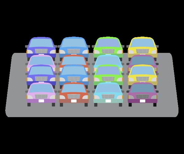 満車の駐車場のイラスト