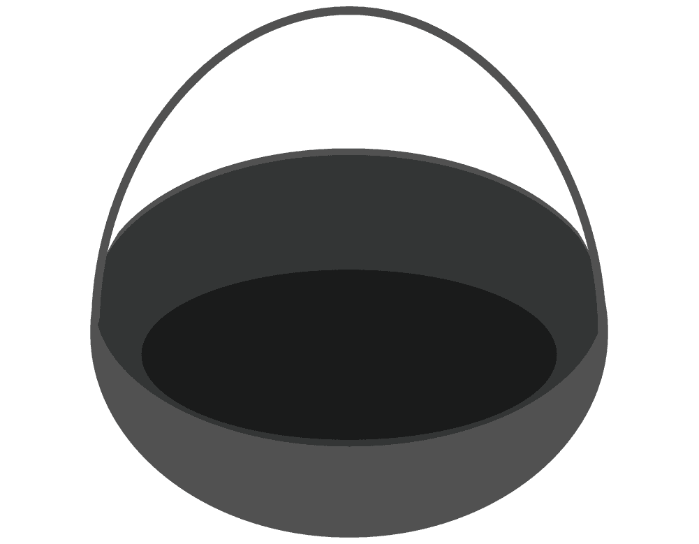 鉄鍋のイラスト